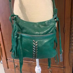 Lucky Brand Genuine Leather Crossbody Teal Green